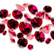 Group of rubies — Stock Photo
