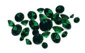 Group of emeralds — Stockfoto