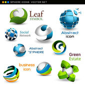 Vector spheres — Stock Vector