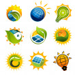 Royalty-Free Stock 矢量图片: Set of solar technology vector elements