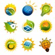 Royalty-Free Stock Imagen vectorial: Set of solar technology vector elements