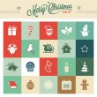 Christmas icons — Vector de stock #34277375