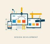 Designing a website or application. Flat style vector design. — Vecteur