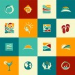 Set of abstract summer icons — Stock Vector
