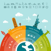 Travel infographics. Easy to replace design elements and infos — Stock Vector
