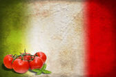Italian flag with tomatoes — Stock Photo