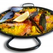 Traditional Spanish plate: paella valenciana — Stock Photo