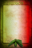 Bandiera messicana con jalapeno — Foto Stock