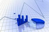 Diagramma e grafico aziendale — Foto Stock