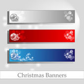 Chrismas banners with message frame — Stock Vector