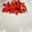 Seasonal background with Christmas decorations — Stockfoto