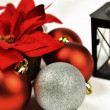 Seasonal background with Christmas decorations — Foto de Stock