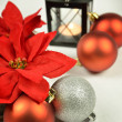 Seasonal background with Christmas decorations — Photo