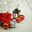 Seasonal background with Christmas decorations — ストック写真