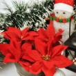 Photo: Seasonal background with Christmas decorations