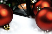 Seasonal background with Christmas decorations — Foto Stock