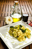 Pasta with broccoli — Stock Photo