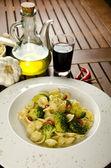Pasta with broccoli — Stock Photo
