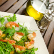 Prawn tail with rocket - Foto Stock