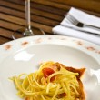 Pasta with salmon - Foto Stock
