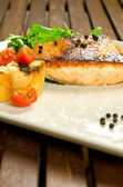 Baked salmon fillet — Stock Photo