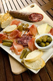 Homelike italian appetizer — Stock Photo