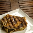 Grilled beef steak with bone — Stock Photo