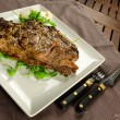 Foto Stock: Grilled beef steak with bone