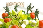 Dieta e peso guerra perdita con cibo sano — Foto Stock
