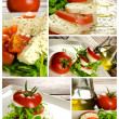 Caprese salad composition - Foto Stock