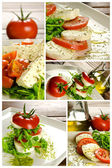 Caprese salad composition — Stock Photo