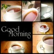 Stock Photo: Cup of tea, photo collage