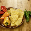 Nachos with peppers - Foto Stock