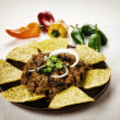 Nachos and chili con carne - Foto Stock