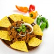 Stock Photo: Nachos and chili con carne