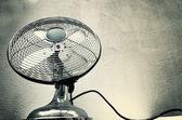 Vintage steel fan — Stock Photo