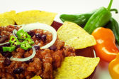 Nachos and chili con carne — Stock Photo