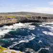 Cliffs near Dun Aengus, Inishmore, Aran islands in Ireland — Stock Photo