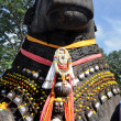 Stock Photo: Nandi bull on Chamundi Hill, Mysore, Karnataka, India
