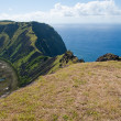 Stock Photo: Rano Kau volcano, Easter island (Chile)