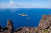 Incisioni rupestri a isola di pasqua cile — Foto Stock