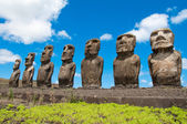 Moais in Ahu Tongariki, Easter island, Chile — Stock Photo