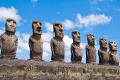 Moais in Ahu Tongariki, Easter island, Chile — Stock Photo
