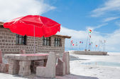 Salt hotel, Uyuni salt flat (Bolivia) — Stock Photo