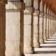 Colonnade in the Royal Palace of Aranjuez. Madrid (Spain) - Stock Photo