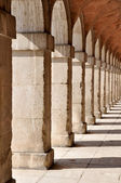 Colonnade in the Royal Palace of Aranjuez. Madrid (Spain) — Foto de Stock