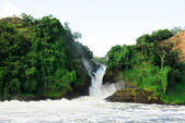 Murchison Falls on the Victoria Nile, northern Uganda — Stock Photo