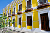 Colonial architecture in Old San Juan, Puerto Rico — Stock Photo