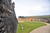 форт сан-кристобаль, старый сан-хуан (пуэрто-рико) — Стоковое фото