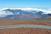 Road at Haleakala National Park, Maui (Hawaii) — Zdjęcie stockowe